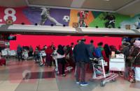 sewa media Sticker Sticker Baggage Claim Area Conveyor Belt No 2 Arrival SM Badaruddin II - Palembang KOTA PALEMBANG Airport