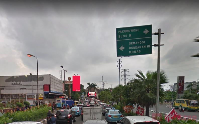 Sewa Billboard - Billboard Jl Asia Afrika (Depan Snapy) - Jakarta Selatan - kota jakarta pusat