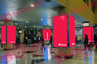 sewa media Neon Box Check In Area Departure KOTA PALEMBANG Airport