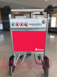 sewa media Sticker Sticker Trolley Departure & Arrival Area KOTA PEKANBARU Airport