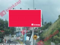 sewa media Billboard Jl. A . A Maramis Bandara – Depan Koran Tribun(B) KOTA MANADO Street