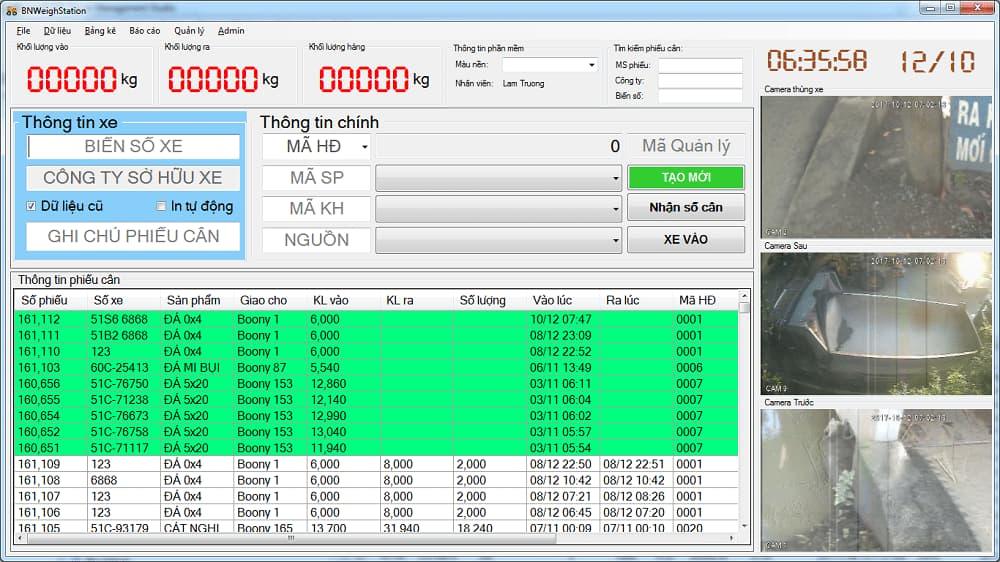 Phần mềm quản lý trạm cân ô tô BnWeigh Station tiên tiến nhất-1