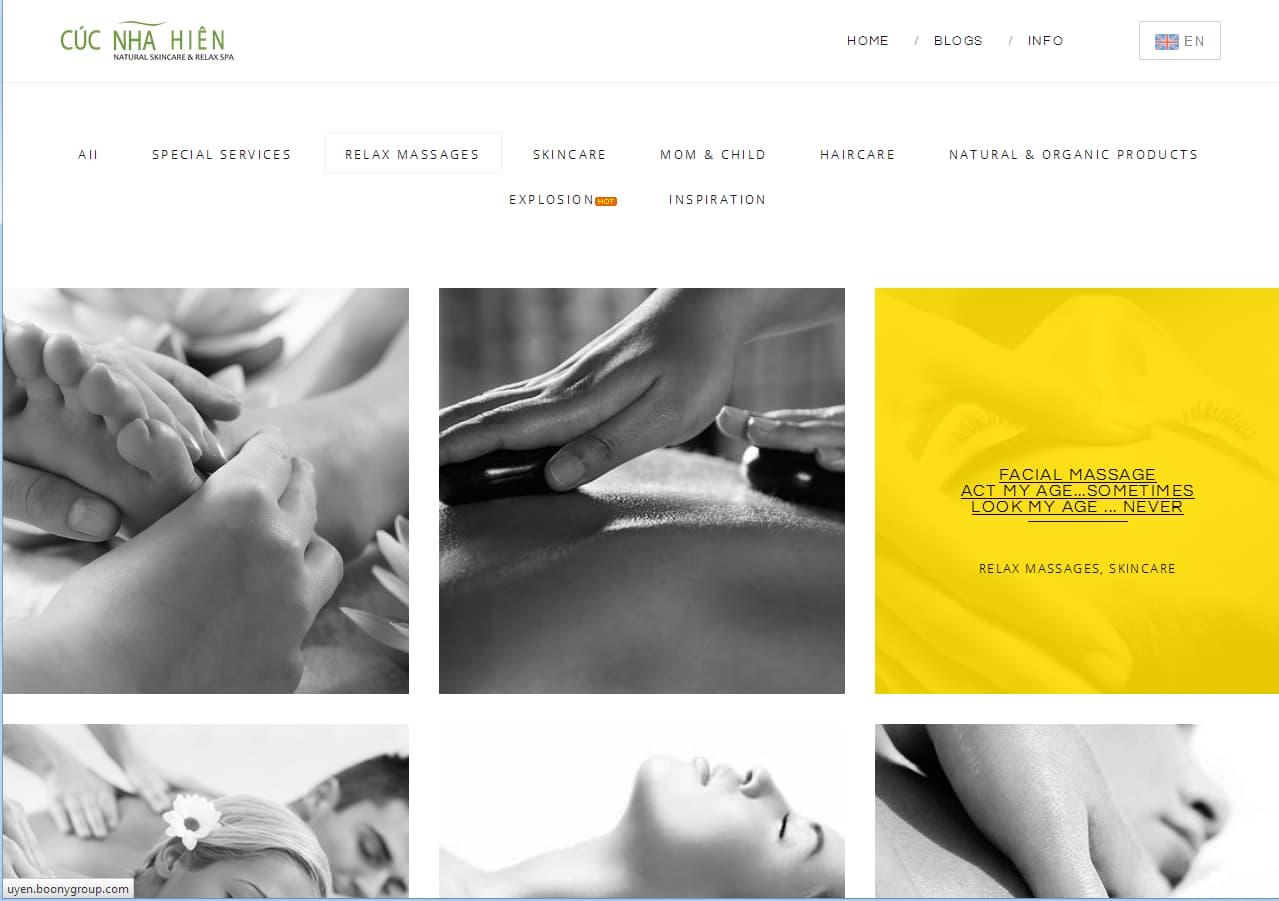 Website Spa Cúc Nhã Hiên-1