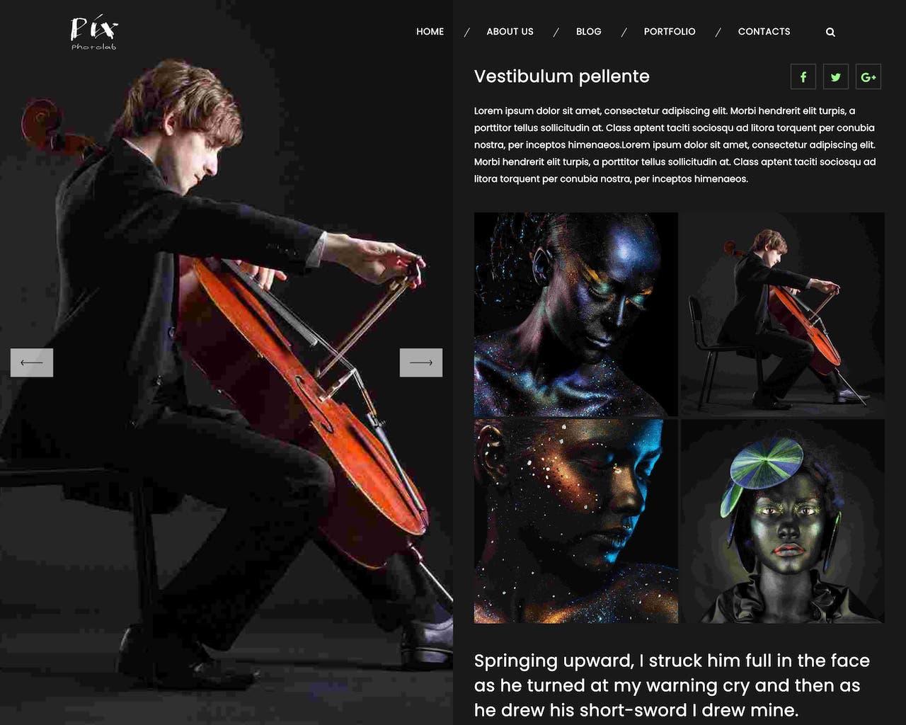 Website Studio Show hình nghệ thuật-2