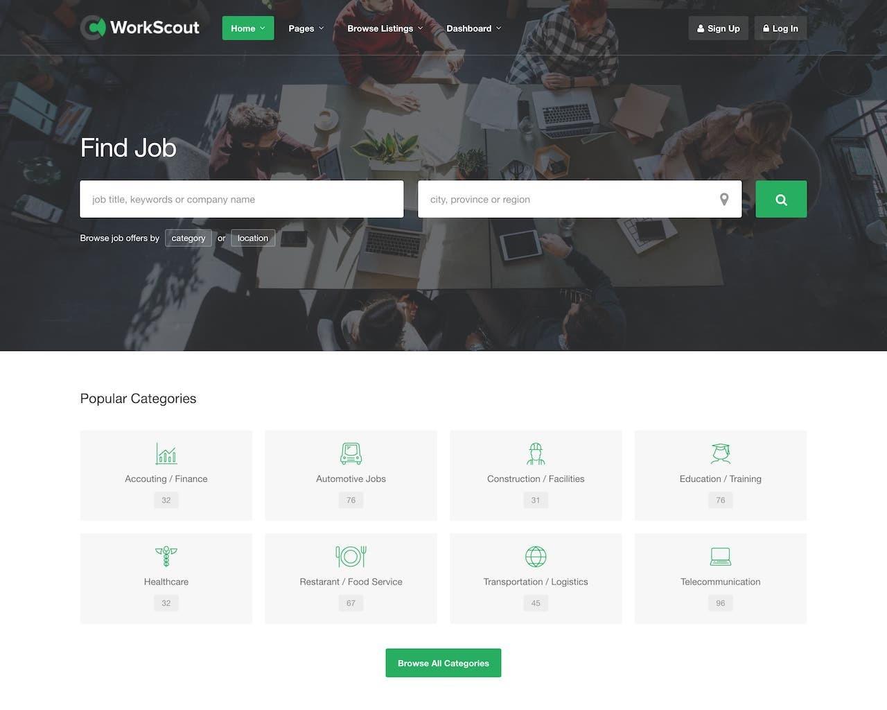 Website tuyển dụng - giới thiệu việc làm