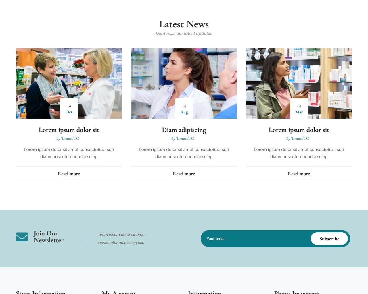 Website tiệm thuốc - cửa hàng dược phẩm-3