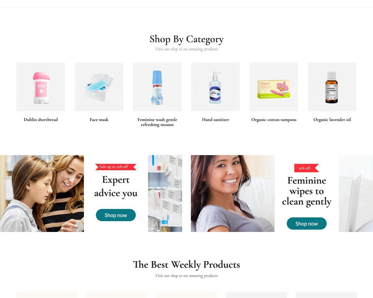 Website tiệm thuốc - cửa hàng dược phẩm-5
