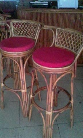 complete bar countertop and 6 stools for sale - 2/2