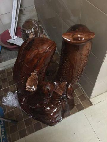 new wooden fish statue for home decoration - 3/10