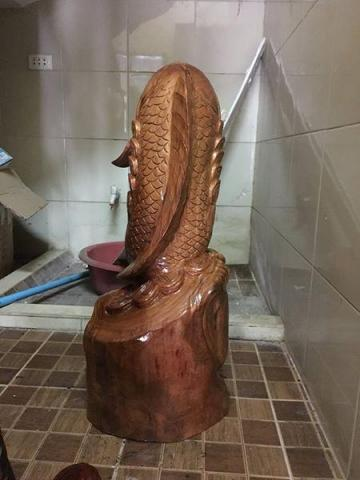 new wooden fish statue for home decoration - 5/10