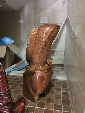 new wooden fish statue for home decoration - 7/10