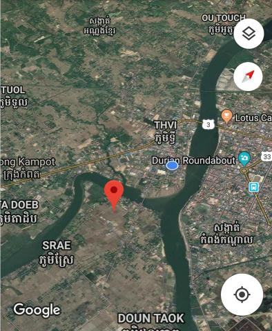 Land 5 by 20 meter in Kampot for sale - 3/4