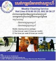 Weekly Cleaning Service Phnom penh