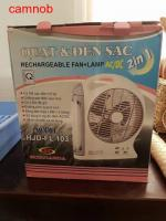 Rechargeable fans can used when no electricity