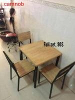wooden chair and table for less than 100$