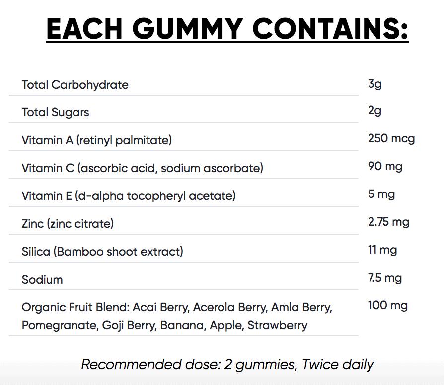 goli superfruits ingredients