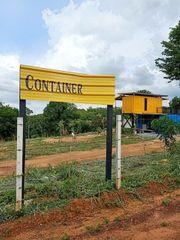 ให้เช่าที่ดิน-บ้านสวน 6ไร่  บ้านชิคๆ แบบคอนเทนเนอร์พักต่างอากาศ 9,600 ตรม. โคราช สีคิ้ว 2นอน 2น้ำ