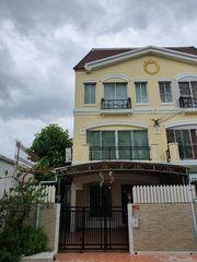 ให้เช่าทาวน์เฮ้าส์ 3 ชั้น หลังมุม หมู่บ้านกลางเมืองศรีนครินทร์ 24 ใกล้ธัญญาพาร์ค