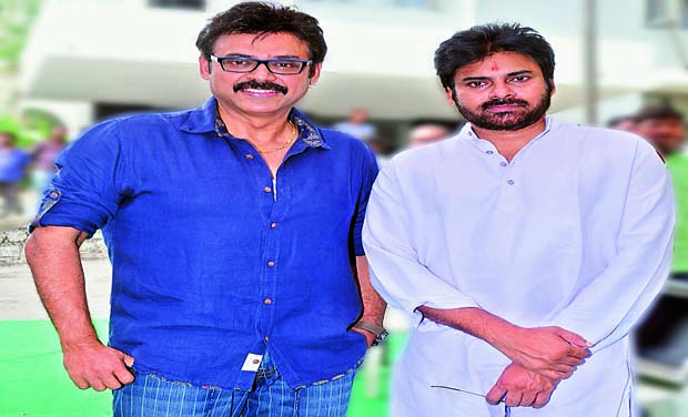 Pawan Kalyan and Venkatesh