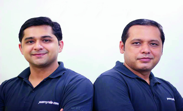 Jazzing ride: Sunil Dhingra (left), CEO and co-founder of Jazzmyride.com with his brother Mukesh Dhingra (right).