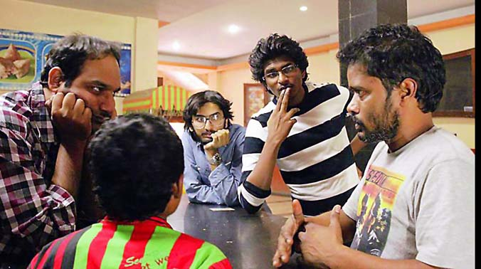 Working still of the movie which is scheduled to release on March 5 this year.