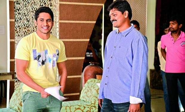 Naga Chaitanya and director Vijaykumar Konda during the shoot of Oka Laila Kosam