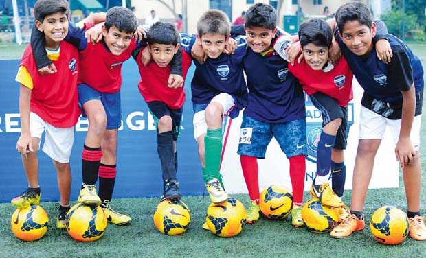 A file picture of kids at a training camp in the city