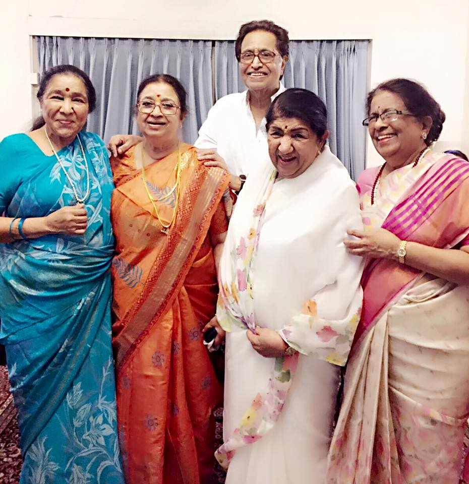Mangeshkar Siblings Gather To Celebrate Usha S Birthday