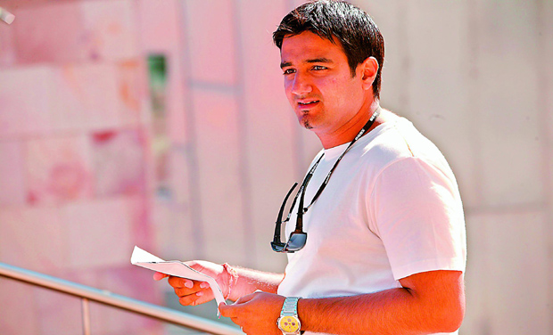 Enjoying his work: Bang Bang director Siddharth Anand, who left the rom-com genre to make the action flick