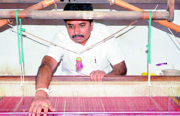 Nakka Venkateswarlu, executive member of Venkatagiri Handloom Saris Apex Society.