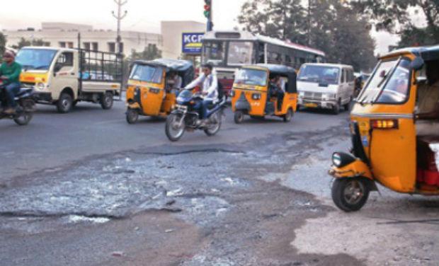 Low-tech ride at Hitec Hyderabad