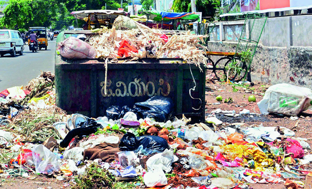 Visakhapatnam city generates about 1,100 to 1,200 metric tonne of waste a day.