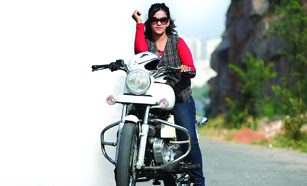 Fighting spirit:  Sana Iqbal is all set for a cross-country ride to spread awareness on suicide prevention