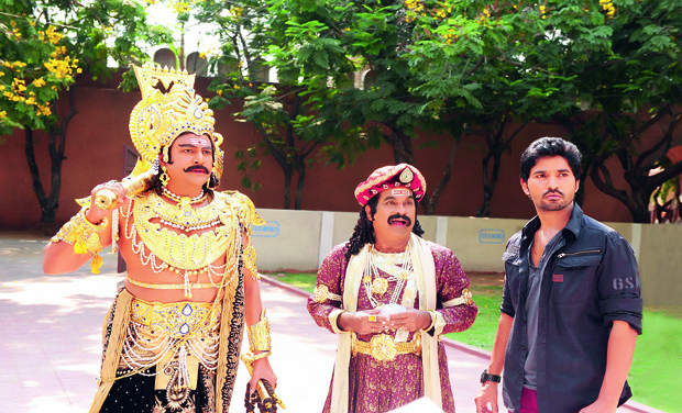 (From Left) Mohan Babu, Brahmanandam and K.V. Satish