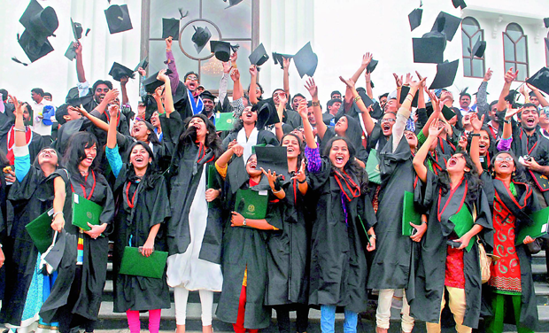 52d04bbf4c0 ... dress code for graduation day. TROUBLE  File image of a convocation  ceremony at the University of Hyderabad