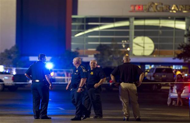 Police tape surrounds the Grand Theatre following a deadly shooting Thursday, July 23, 2015, in Lafayette, La. (Photo: AP)