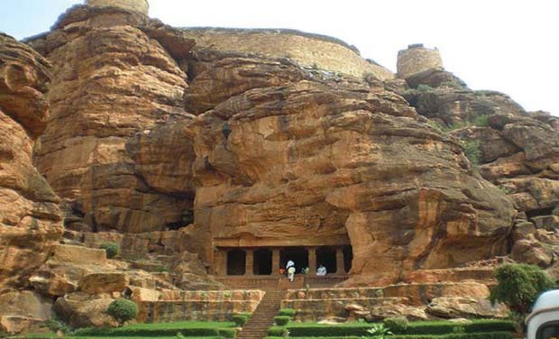 Badami caves is a major tourist spot (Photo: DC)