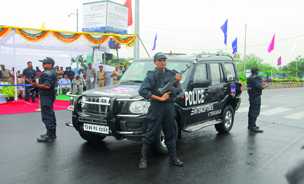 Telangana launches armed police patrol SUVs