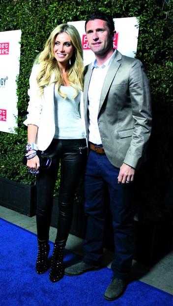 Robbie Keane, with wife Claudine