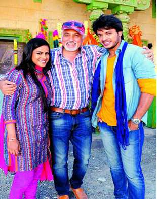 Makeover team: Tarun Dhanrajgir (centre) with the lead actors Neha Mahajan and Dr Irfan Ahmed