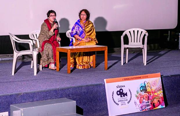 Director Churni Ganguly with fest curator Ratnatama Sengupta