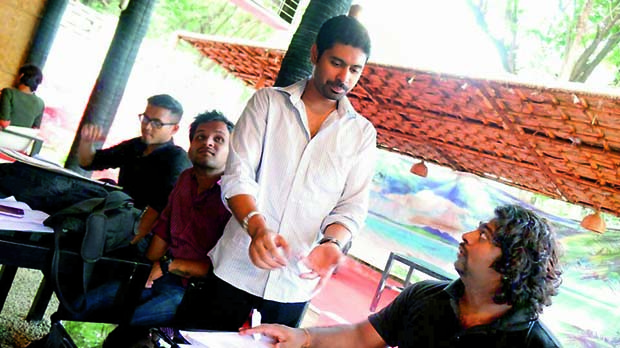 Director Taher Ali Baig with Rahul Reddy of Octopus Studios at rehersals