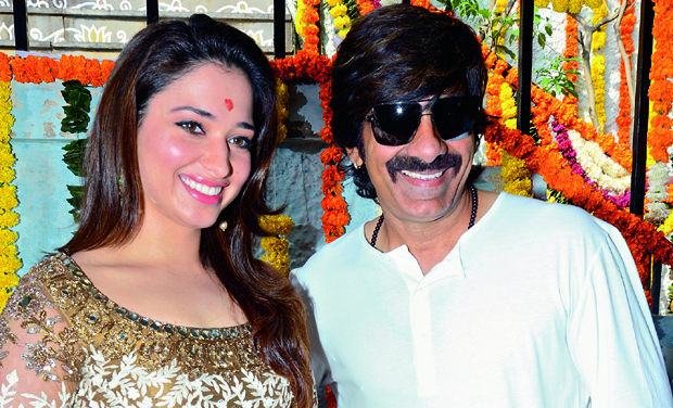 Tamannaah and Ravi Teja at the event