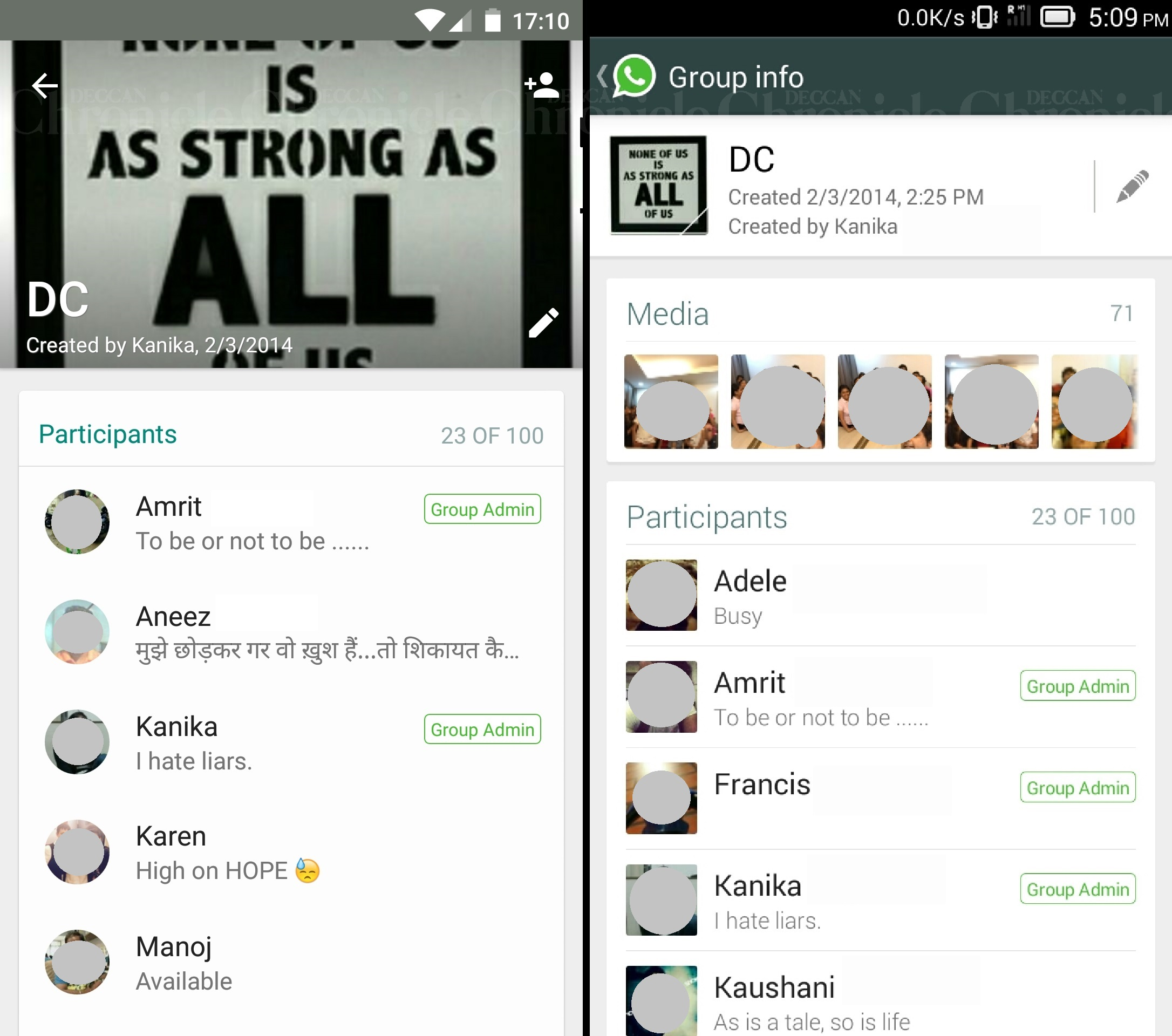 whatsapp just received a new design change