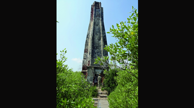 The lighthouse located in Coringa Wildlife Sanctuary in East Godavari district. (Photo: DC)