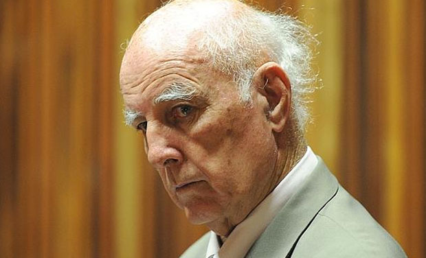 Australian-born former tennis Grand Slam champion Bob Hewitt was found guilty Monday in South Africa of raping and assaulting young girls whom he was coaching in the early 1980s. (Photo: AP)
