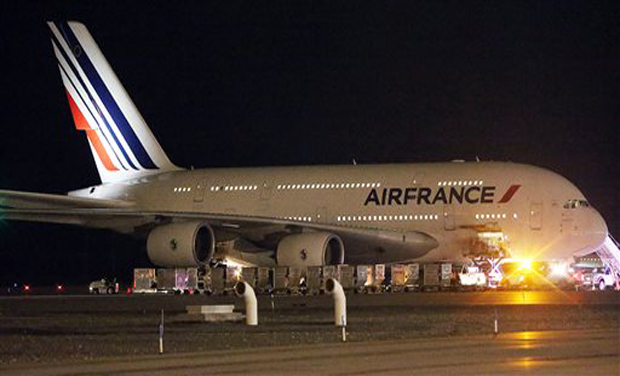 Air France spokesman Ulli Gendrot said the '3852 flight has been canceled.' It was due later on Friday (Photo: AP)