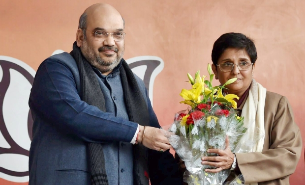 He said BJP will contest the crucial polls for the 70-member Assembly under Bedi's leadership. She will contest from the Krishna Nagar seat in East Delhi, considered a BJP stronghold (Photo: PTI)
