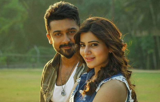 Suriya and Samantha in a still from Anjaan.