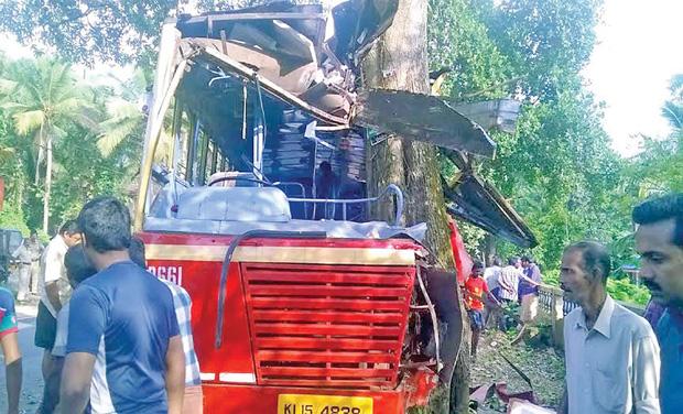 One dead, 30 hurt in KSRTC bus accident